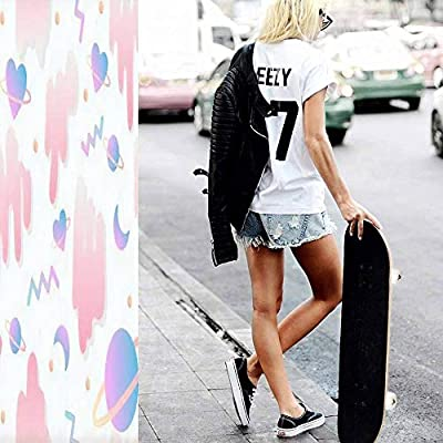 Classic Concave Skateboard Girly Love in Space Seamless Background Vector Longboard Maple Deck Extreme Sports and Outdoors Double Kick Trick for Beginners and Professionals : Sports & Outdoors