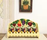 3-D MIxed Fruit Ceramic 5-Piece Spice and Rack, by ACK 87044