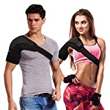 Right Shoulder Brace with Mesh Bags, Hot Cold Therapy Shoulder Support for Rotator Cuff Pain Relief, Neoprene Shoulder and Arm Wrap to Alleviate Dislocated AC Joint Pain, Labrum Tear Prevention and Recovery