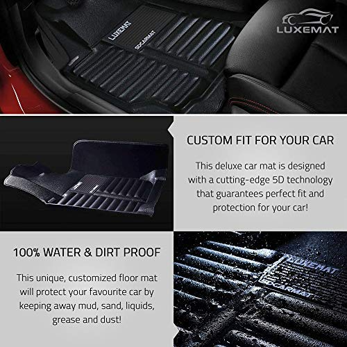 Eco-Friendly /& Easy to Clean Black, PU Leather Material Black Luxemat Custom All Weather 5D Car Mat for 2011-18 Jeep Grand Cherokee Waterproof /& Dirt Proof | Anti-Slip Auto Flooring Canzhou