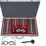 DOMINTY 266 PCS Optometry Box Glasses Trial Lens Set Case Optometry Equipment Metal Rim Aluminum Suitcase with One Free Trial Frame