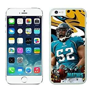 NFL iPhone 6 Plus 5.5 Inches Case Jacksonville Jaguars dashean Mathis White iPhone 6 Plus Cell Phone Case ONXTWKHB2068