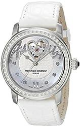 Frederique Constant Women's FC310SQ2PD6 Heart beat Analog Display Swiss Quartz White Watch