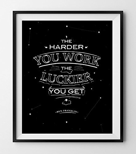 The Harder You Work The Luckier You Get. Motivational Poster