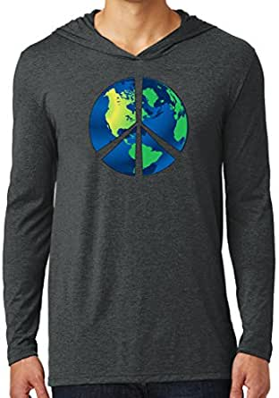 Mens BLUE EARTH Hoodie Tee, Extra Small - Black Frost