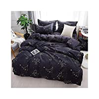 haleysmall Winter Bedding Sets Full King Twin Queen King Size 4Pcs Bed Sheet Duvet Cover Set Pillowcase Without Comforter,B6,Sold 1 Pillowcases,Flat Bed Sheet