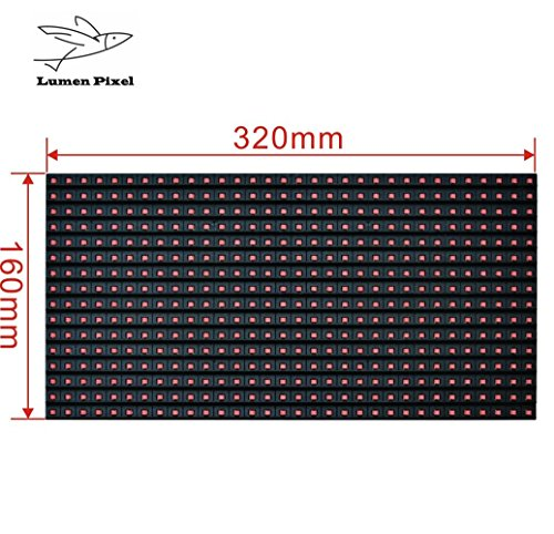 P10 Red Outdoor LED Module Programmable 32 X 16 Pixel LED matrix panel 1/4 scan Lumen LED sign accessories for Assembling and Repairing LED display screen