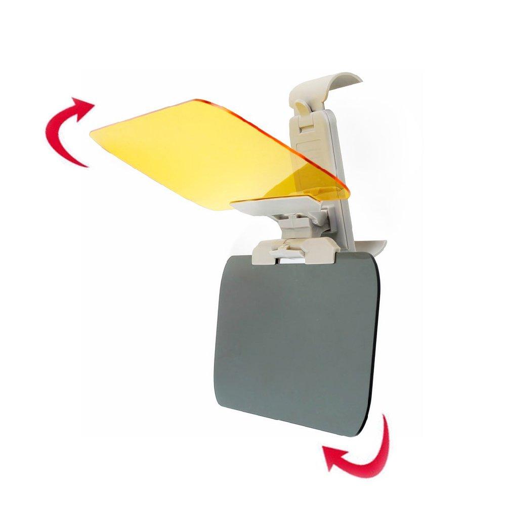 Togather/® 2 en 1 HD visi/ón coche sol Protecci/ón Anti-UV Block visera conducci/ón sombrilla antideslumbrante espejo gafas protector tablero antideslumbrante d/ía y noche visera