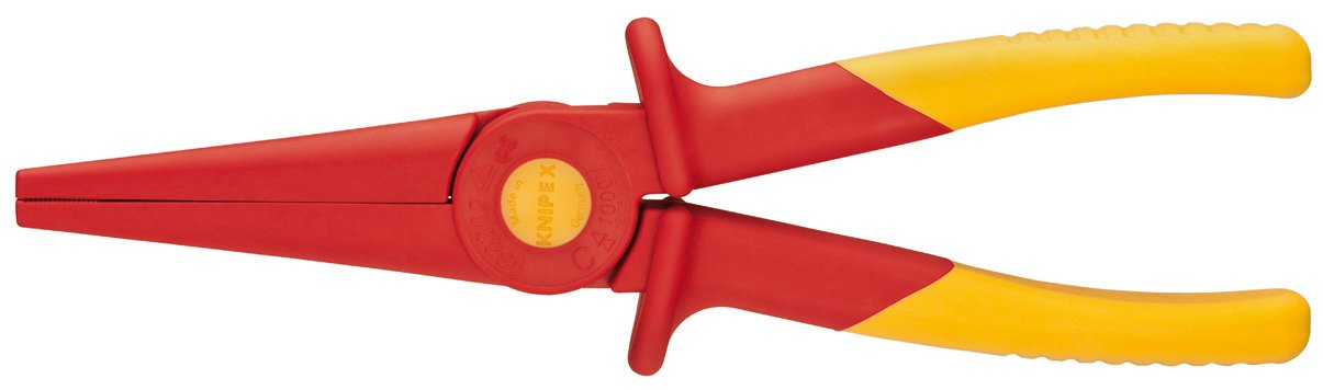 KNIPEX Tools 98 62 02, Flat Nose Plastic Pliers 1000V Insulated by KNIPEX Tools