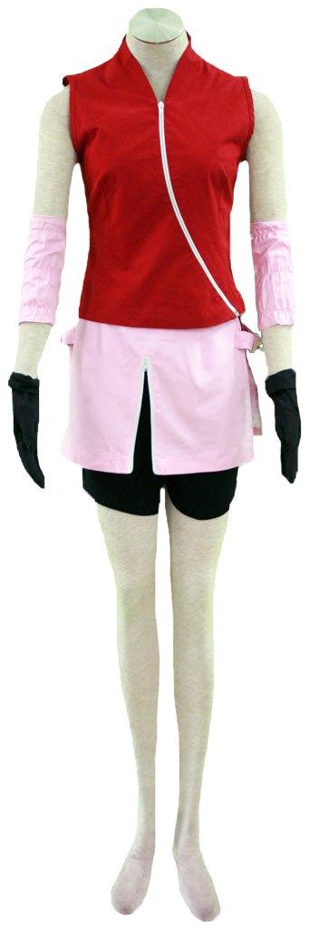 Wsysnl Japanese Anime Cosplay Halloween Costume for Sakura Haruno, Adult/Kids