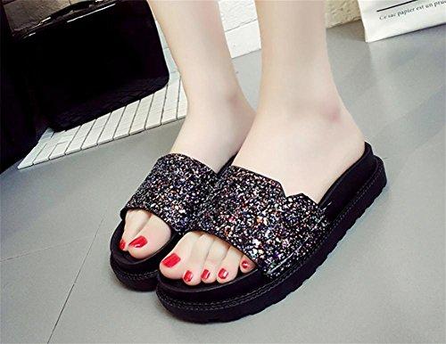 pengweiSignore e pantofole in estate, una parola di scarpe fresche con spesse stelo