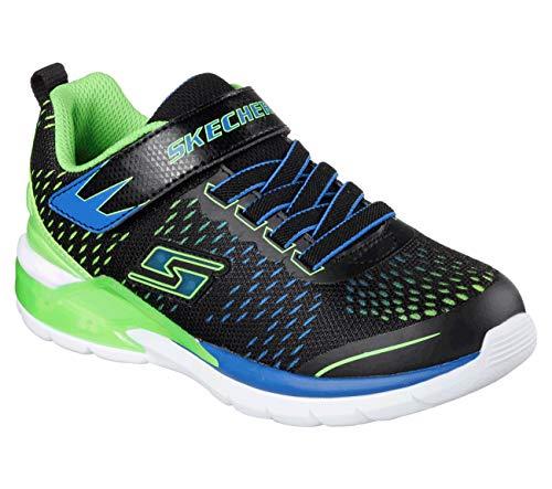 Skechers Kids Erupters II  Lava Arc Light Up Sneaker (Little Kid),Black/Blue/Lime,1.5 M US Little ()