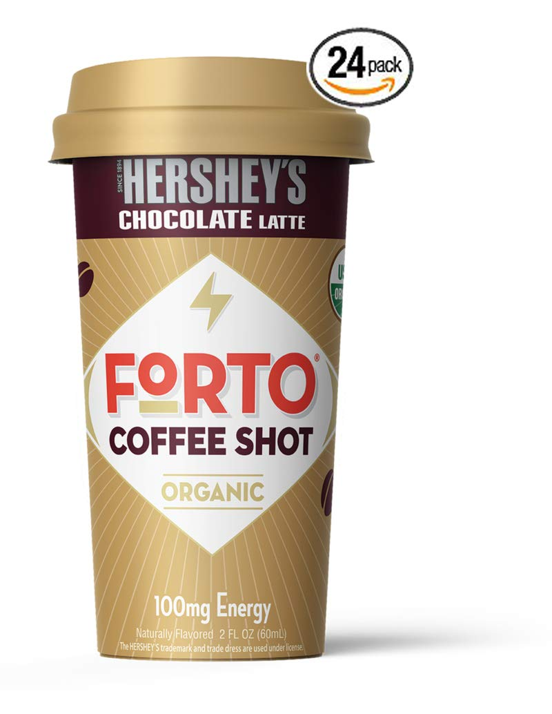 FORTO Coffee Shots - 100mg Caffeine, Pure Black, Ready-to-Drink on the go, High Energy Cold Brew Coffee - Fast Coffee Energy Boost, 24 Pack