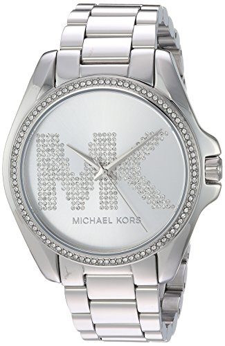 Michael Kors Women's Bradshaw Analog-Quartz Watch with Stainless-Steel Strap, Silver, 10 (Model: MK6554)