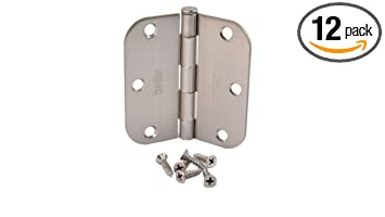 (Pack Of 12) Kesler 3 1/2 Inch Satin Nickel Door Hinges (