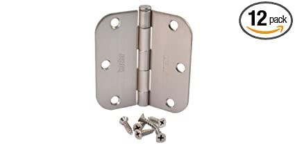 Bon (Pack Of 12) Kesler 3 1/2 Inch Satin Nickel Door Hinges (