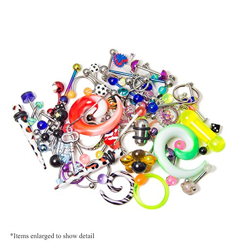 10, 30, 50 or 100-pack Random Body Jewelry - Belly, Nose, Nipple, Tongue, Ear, Lip - Each Pack Is Picked Randomly (30)