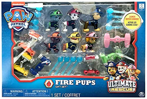 Nickelodeon Paw Patrol Fire Pups Ultimate Rescue 6 Figure Gift Set