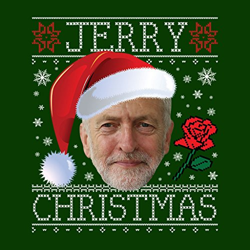 Santa Santa Sweatshirt Knit Christmas Hat Bottle Green Jeremy Corbyn Women's Women's Women's Jerry Pattern XpZqW85x
