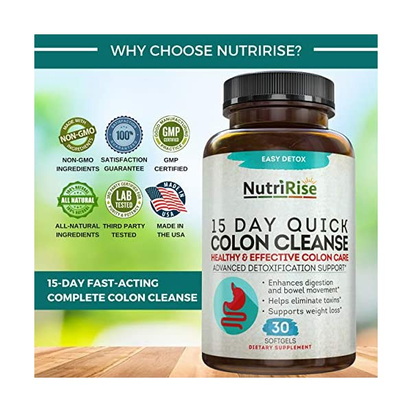 Health Shopping Colon Cleanser Detox for Weight Loss. 15 Day Fast-Acting Extra-Strength Cleanse with