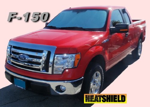 Sunshade for FORD F150 Pickup 2009 2010 2011 2012 2013 2014 HEATSHIELD Brand Windshield Custom-fit Sunshade (F150 Sun Visor)