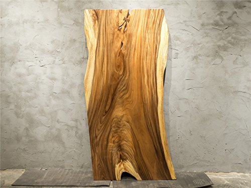 HandCrafted Natural Edge Slab Solid Walnut Wood Table With Wood Stands Unique (Solid Wood Slabs)