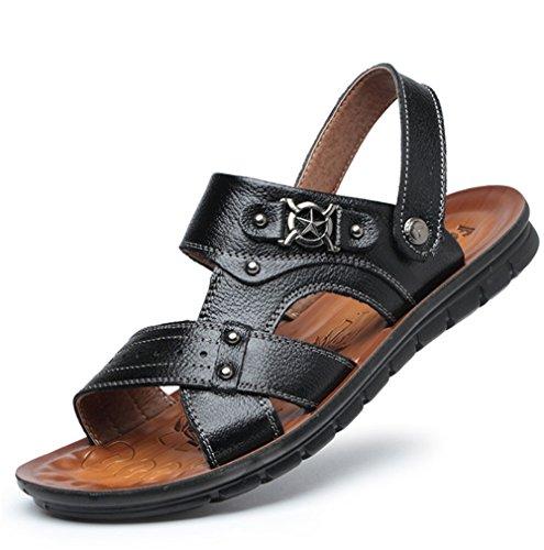Scarpe Sandals In Dimensione Colore Summer 41 Sandali EU Wagsiyi Marrone Pelle Uomo da Nero 1 Traspiranti pantofole 3 spiaggia Sandali Traspiranti Da xq6PzC