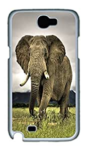 Cool Protective PC Case Skin for Samsung Galaxy Note2 N7100 with Elephant (White)