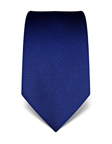 Vincenzo Boretti Men's silk tie textured royal blue by Vincenzo Boretti