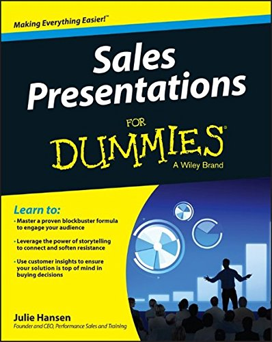 Are your sales presentations stuck in the 20th century? Sales Presentations For Dummies rises to the challenge of guiding you through the process of engaging and persuading busy buyers in a world that's constantly bombarding them with sales pitches. ...