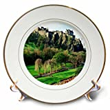 3dRose cp_54126_1 Castle In Edinburgh Scotland-Porcelain Plate, 8''