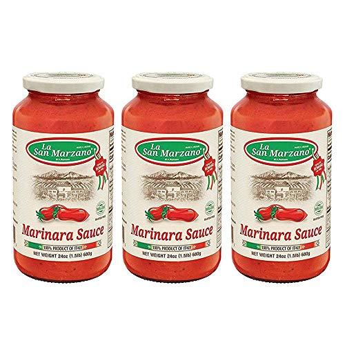La San Marzano Marinara Sauce 24 oz. (Pack of 3) - 100% Product of Italy