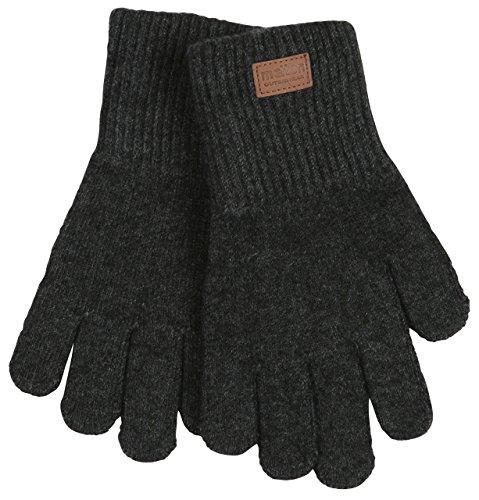 Melton Baby Wool Gloves, Dark Gray, 3-6Y