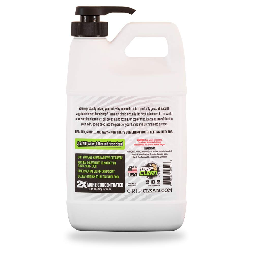 Grip Clean | DirtInfusedHeavy Duty Hand Cleaner - All Natural (1/2gal) x2 by Grip Clean (Image #8)