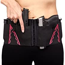 Hip Hugger 7-Pocket IWB Holster Belt for Women by CCW Tactical - Adjustable Fit, Tuckable, Fits Most Concealed Carry Handguns and Accessories, Black