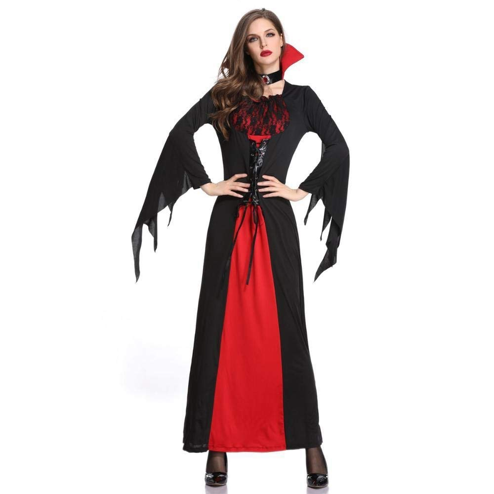M Olydmsky Halloween Costumes Women Halloween Costume Vampire Witch Dress Gown Costume Witch Costume