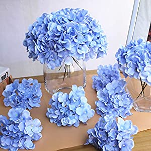 GSD2FF 10pcs/lot Colorful Flower Head Artificial Silk Hydrangea DIY Home Party Wedding Arch Background Wall Decorative 80