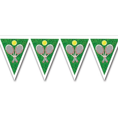 party special offers tennis plastic bunting allweather pennants m
