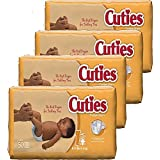 Cuties Baby Diapers, Size 1, 50-Count, Pack of 4