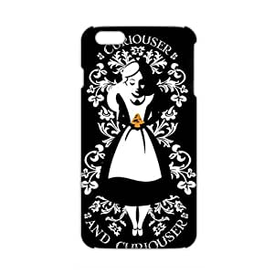 Alice in Wonderland Curiouser and Curiouser 3D Phone Case for iPhone 6 Plus