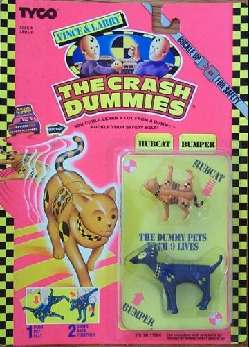 Vintage Crash Test Dummies Figure : Hubcat and Bumper
