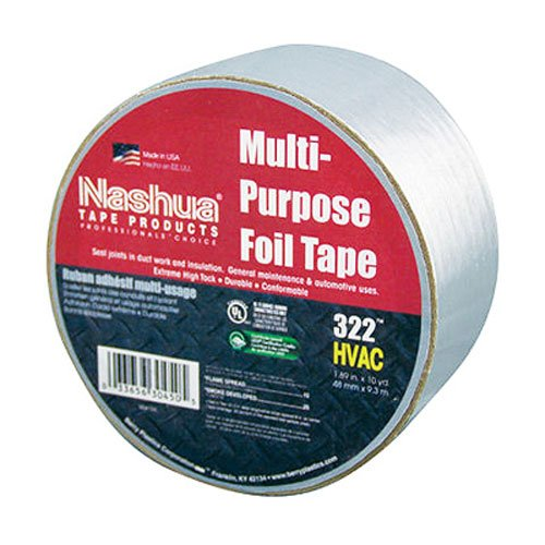 Nashua 322 Multipurpose Foil Tape, 3.2 mil Thick, 9 m Length, 48 mm Width, -