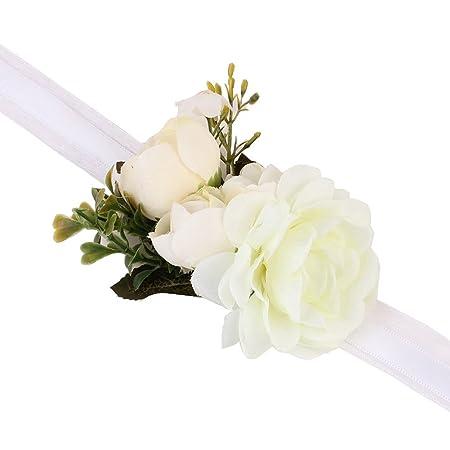 Girl Bridesmaid Wedding Wrist Corsage Party Wrist Flower Corsage