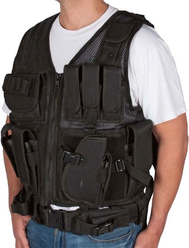 Review Adjustable Tactical Military and Hunting Vest By Modern Warrior (Black)