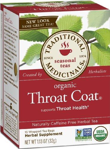 Traditional Medicinals Manteau gorge organique, les cases 16-Count (pack de 6)