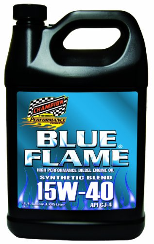 Blue Flame Synthetic Blend (Champion Brands 4358N-EACH 'Blue Flame' 15W-40 API/CJ4 Diesel Motor Oil - 1 Gallon)