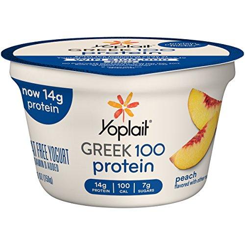 Yoplait Greek 100 Calorie Light, Peach, 5.3 oz