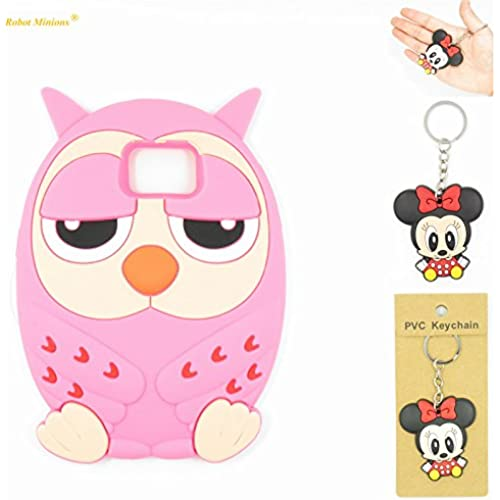 S7 Case,Galaxy S7 Case,Galaxy S7 Soft Silicon Gel Rubber Case,Robot Minions Classic 3D Cute Cartoon Figure [Owl Sales