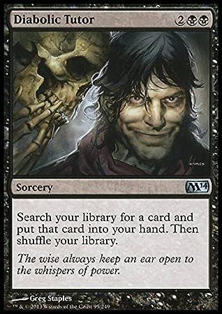 Amazon.com: Magic: The Gathering – Diabolic Tutor (95/249 ...