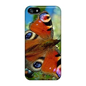 5/5s Scratch-proof Protection Case Cover For Iphone/ Hot Butterfly Peacock Phone Case